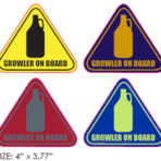 Growler On Board Sticker (4-inch)