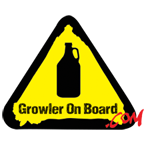 Growler On Board Sticker