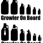 Growler on Board Family Stickers (8-inch)